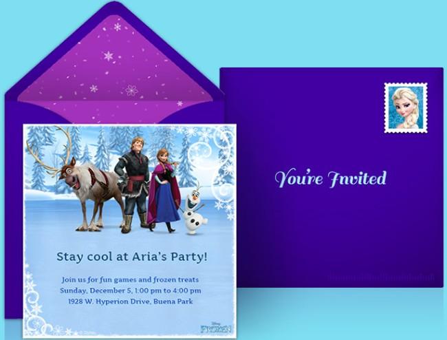 Frozen Party Invitation Blue