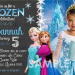 Personalized Frozen Birthday Party Invitation 150x150