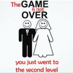the game is not over wedding invitation 150x150