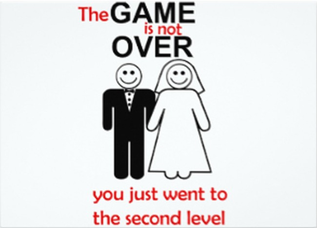 the game is not over wedding invitation