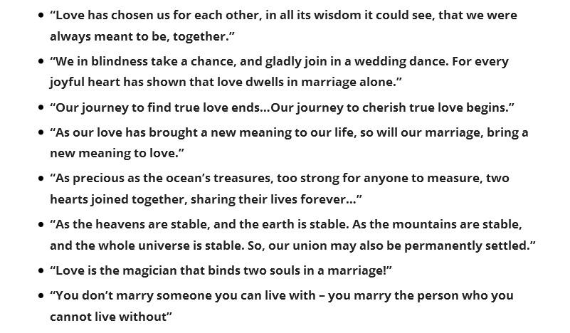 Romantic Wording Ideas For Wedding Quotes