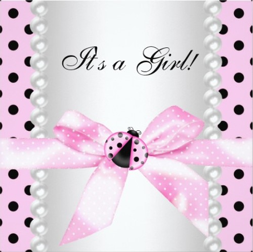 Cute Ladybug invitation cover