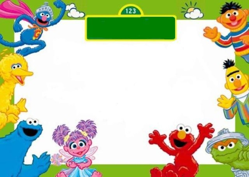 Free Sesame Street Invitation Template | Invitations Online