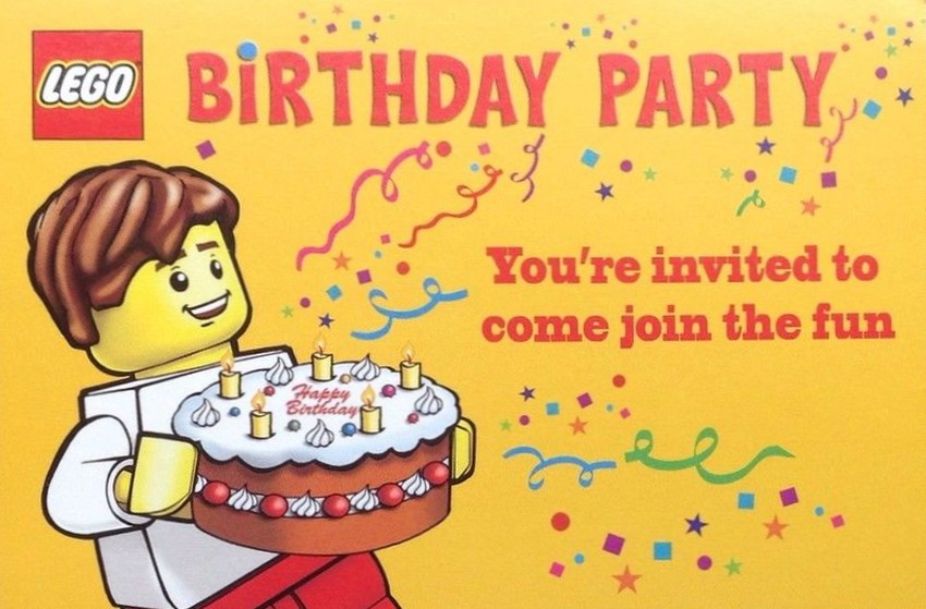 Lego Birthday Invitation Example 2 Invitations Online