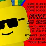 Lego Birthday Invitation Example 3 150x150