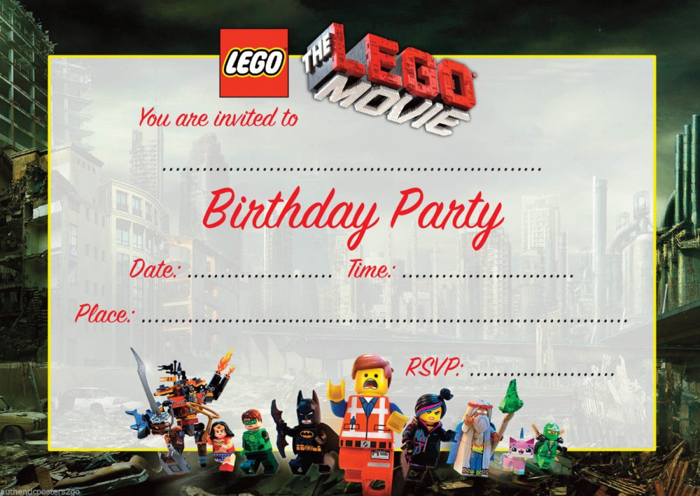 Lego Movie Birthday Invitations gangcraftnet – Printable Birthday Invitations Online