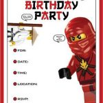 Lego Ninja Invitation Template 150x150