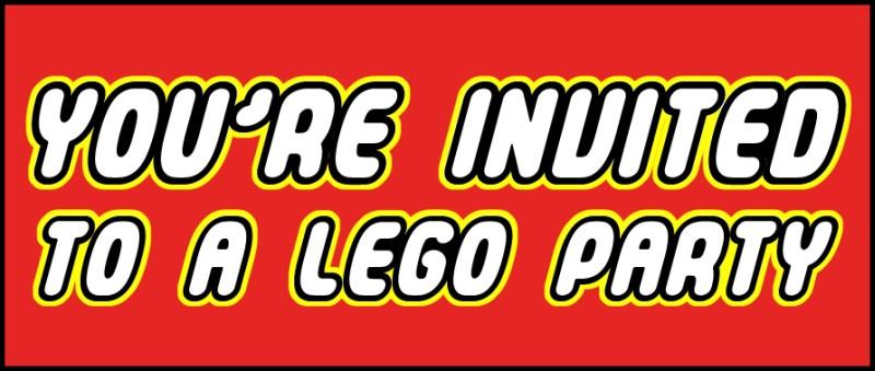 Lego You are Invited Logo