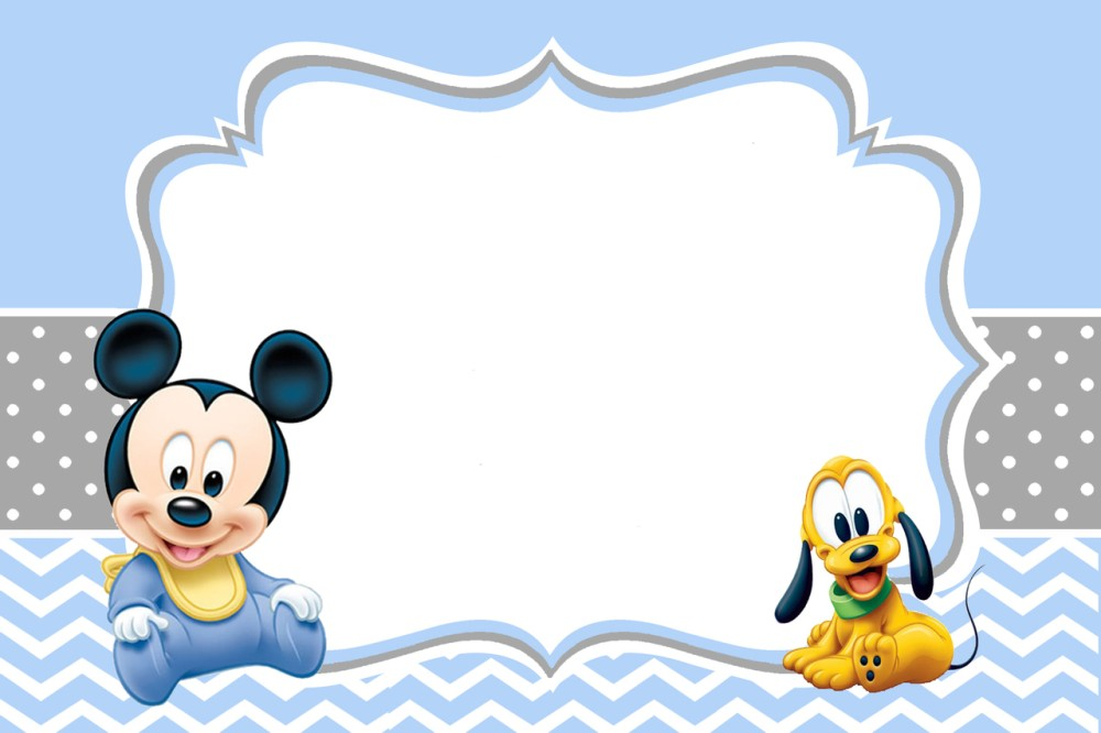 Mickey Mouse Baby Shower Invitations Template | Invitations Online