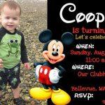 Mickey Mouse Birthday Invitation 150x150