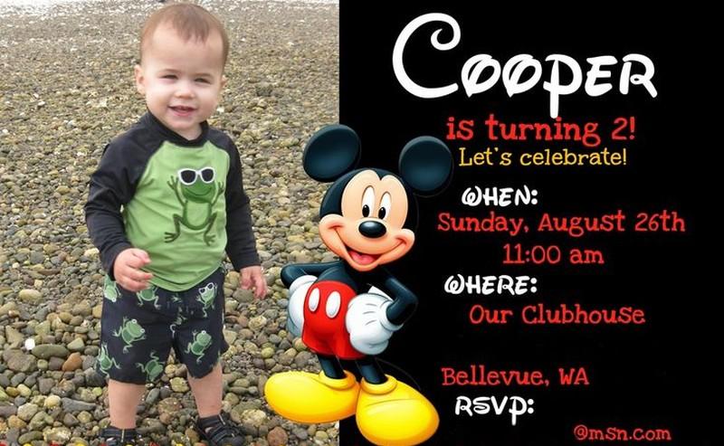 Mickey mouse birthday invitation invitations online mickey mouse birthday invitation filmwisefo