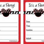 Mickey Mouse Invitation Free Template 150x150