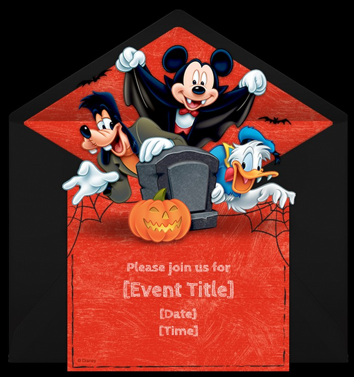 Mickey Mouse Shower Invitation sample