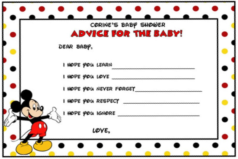 Mickey Mouse Shower Invitation Template