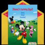 Mickey Mouse birthday Invitation sample 150x150