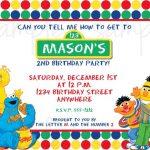 Sesame Street Invitation Example 150x150