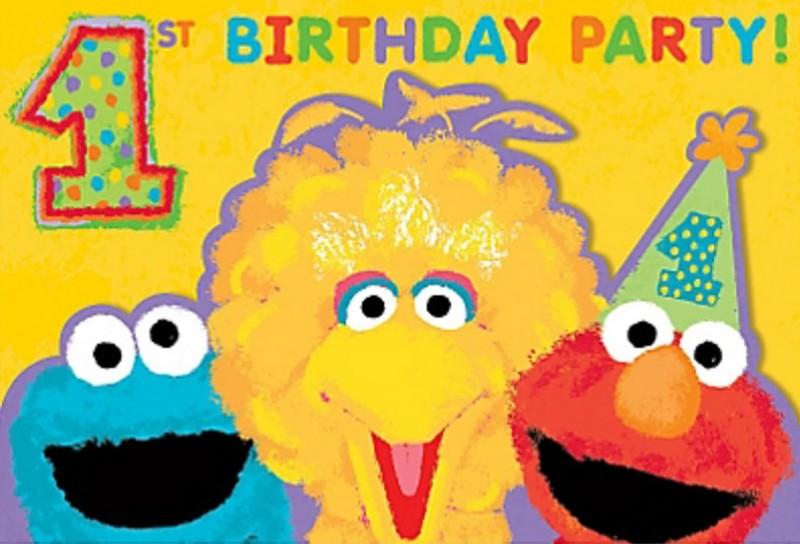 Sesame Street Invitation Example 2