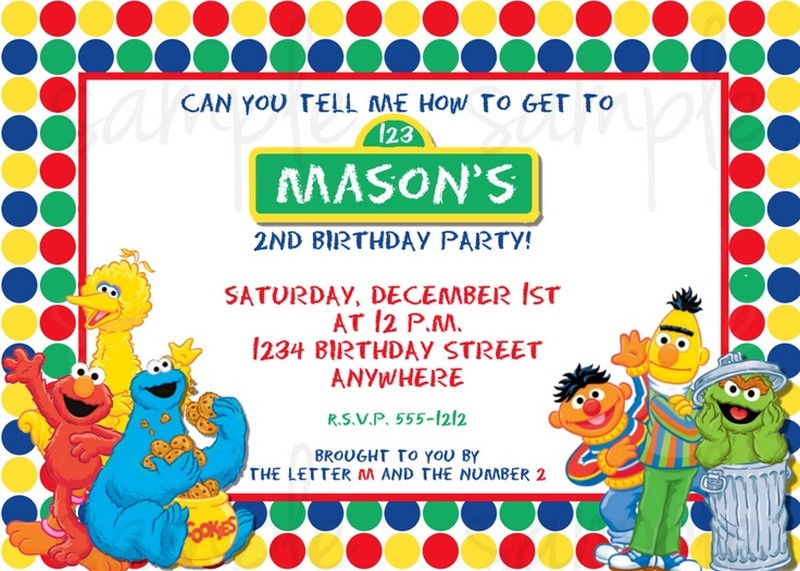 Sesame Street Invitation Example