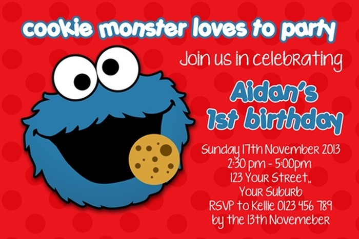 Sesame Street Invitation Sample