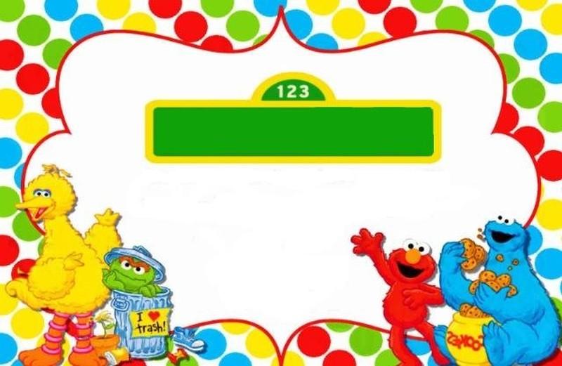 Sesame Street Invitation Template Invitations Online