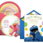 Sesame street invitation samples 150x150