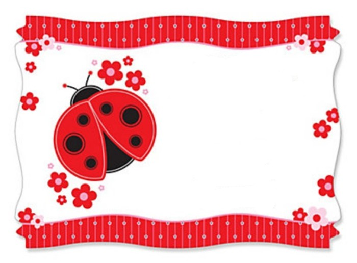 free ladybug baby shower invitation template | Invitations ...