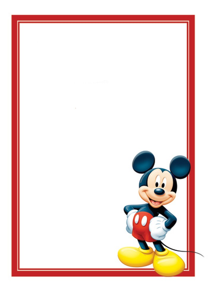 Superbe Free Mickey Mouse Invitations Template