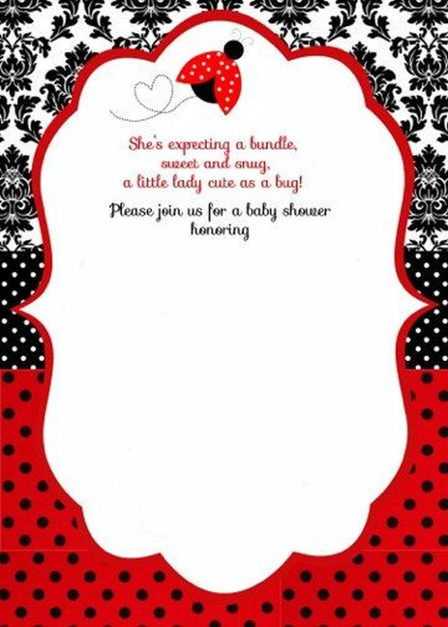 ladybug baby shower invitation template 2 Invitations Online