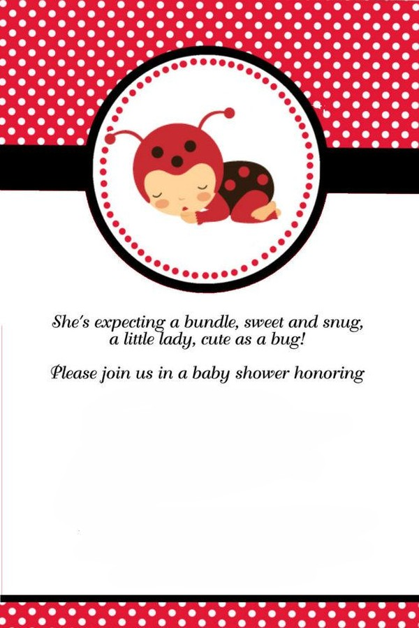 Ladybug Invitation Free Template Invitations Online
