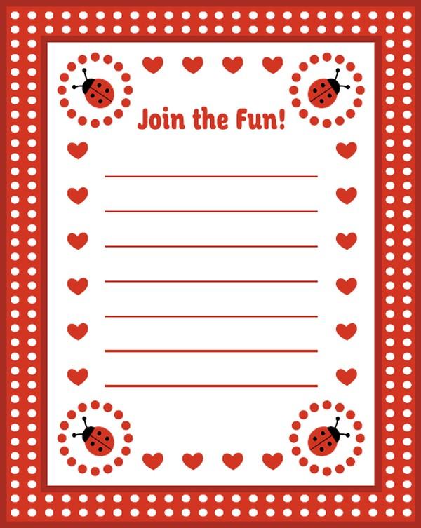 ladybug invitations free template