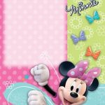 Cute Minnie Mouse Invitation template 150x150