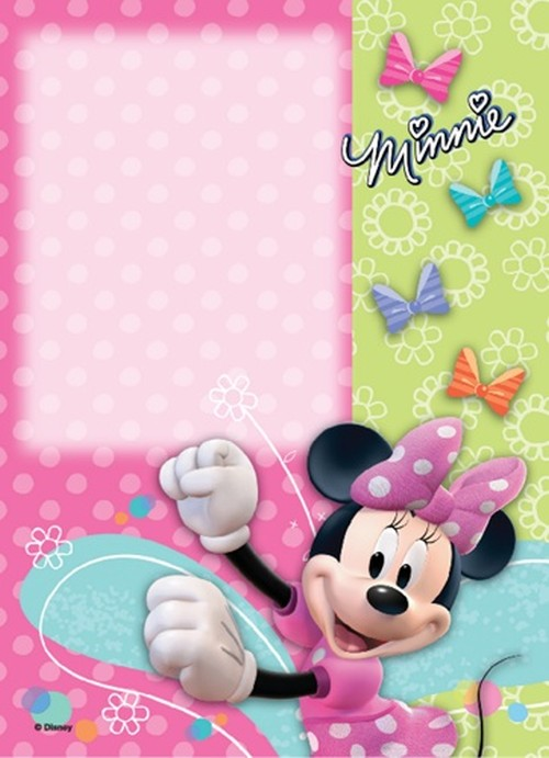 Free or Cheap digital Minnie Mouse birthday party invitation