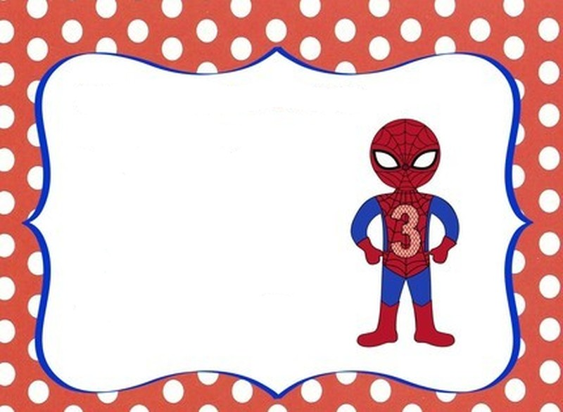 Free Spiderman party invitation template – Free Kids Party Invitations to Print