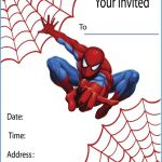 Free template for Spiderman Birthday Invitations 150x150