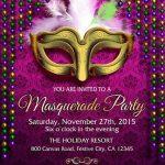 Masquerade Party Invitation Example 150x150