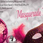 Masquerade Party Invitation Sample 150x150