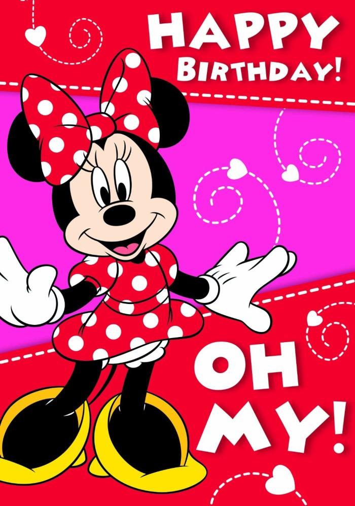 Minnie Mouse Happy Birthday Initation