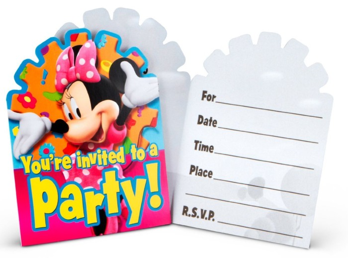 Minnie Mouse Party Invitation Sample