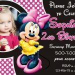 Personalized Minnie Mouse Birthday Invitation Sample 150x150