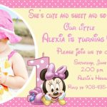Personalized Minnie Mouse Invitation Sample 150x150