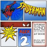 Spiderman Birthday Invitation sample 150x150
