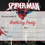 Spiderman Birthday Invitations free template 150x150