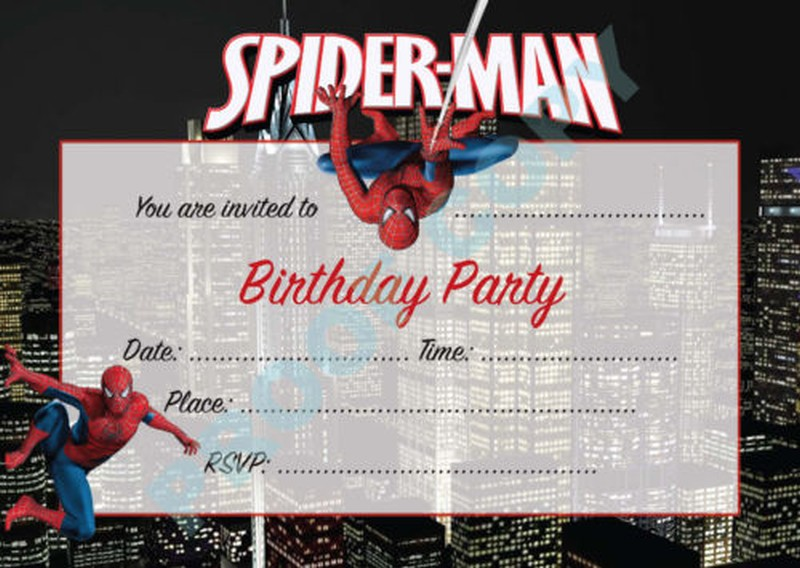 Spiderman Birthday Invitations Free Template  Birthday Invitation Free Template