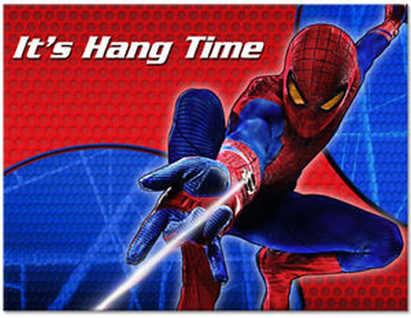 spiderman hang time invitation
