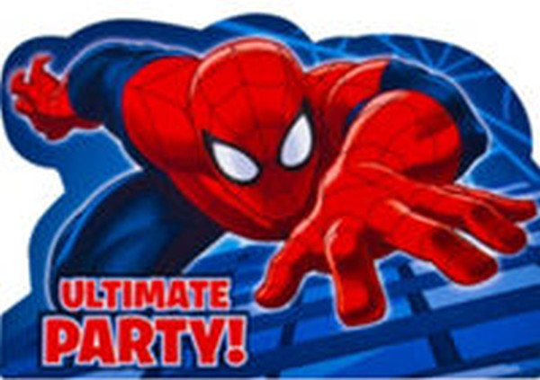 Spiderman ultimate party invitation