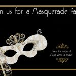 Template for Masquerade Party Invitations 150x150