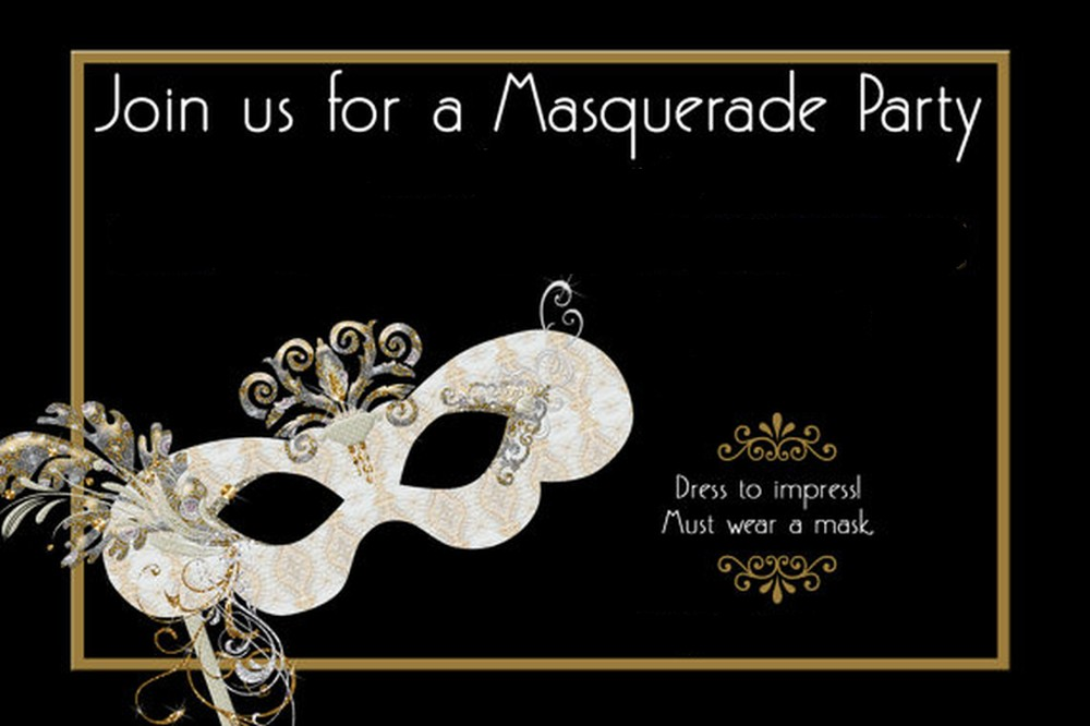 Template for Masquerade Party Invitations | Invitations Online