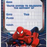 Ultimate Spiderman Birthday Invitations empty template 150x150