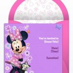 minnie mouse birthday invitation sample 150x150