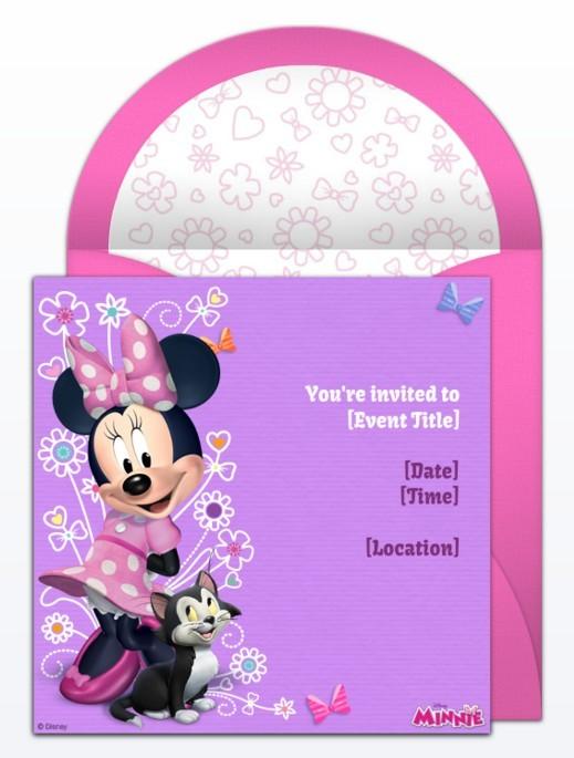 Minnie Mouse Birthday Invitation Sample  Birthday Invitations Sample